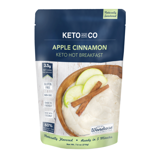 Apple-cinnamon cetogenic breakfast