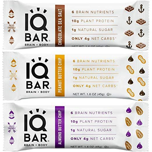 IQ Bar Chocolate Lovers - Boîte de 6