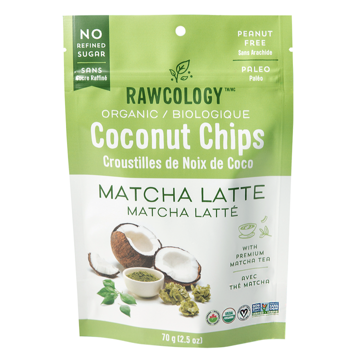Coconut chips matcha rawcology