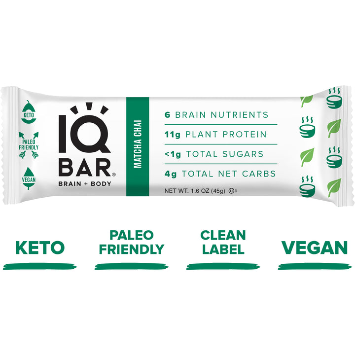 Energy bar Matcha Chai - IQ Bar