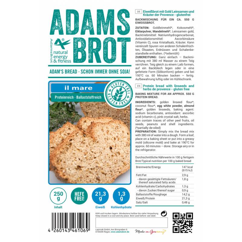 Adams Brot pain il mare
