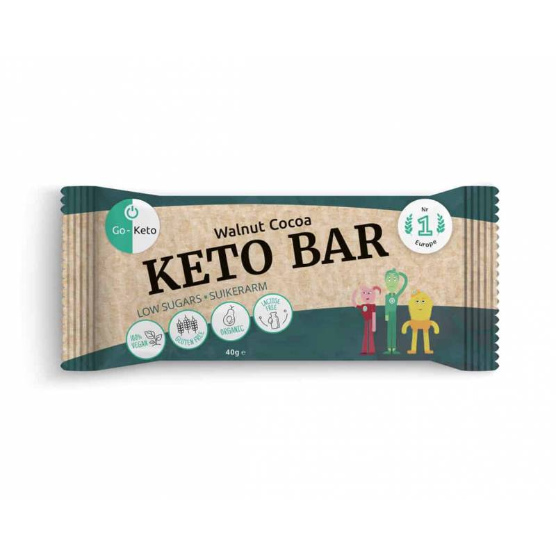 go keto barre low carb noisettes cacao