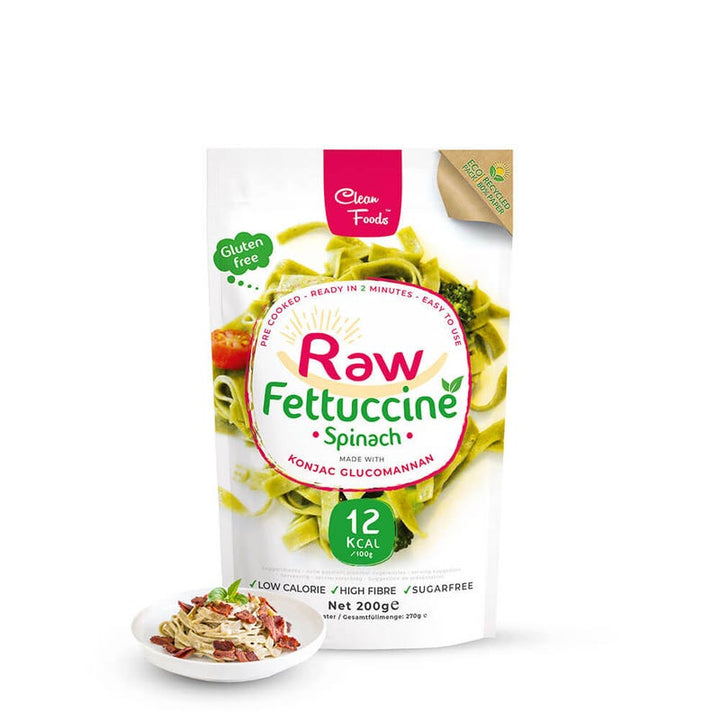 Raw fettuccine épinards clean foods