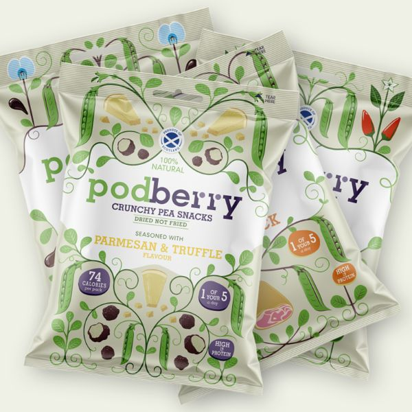Podberry - Erbsenchips 4 Beutel