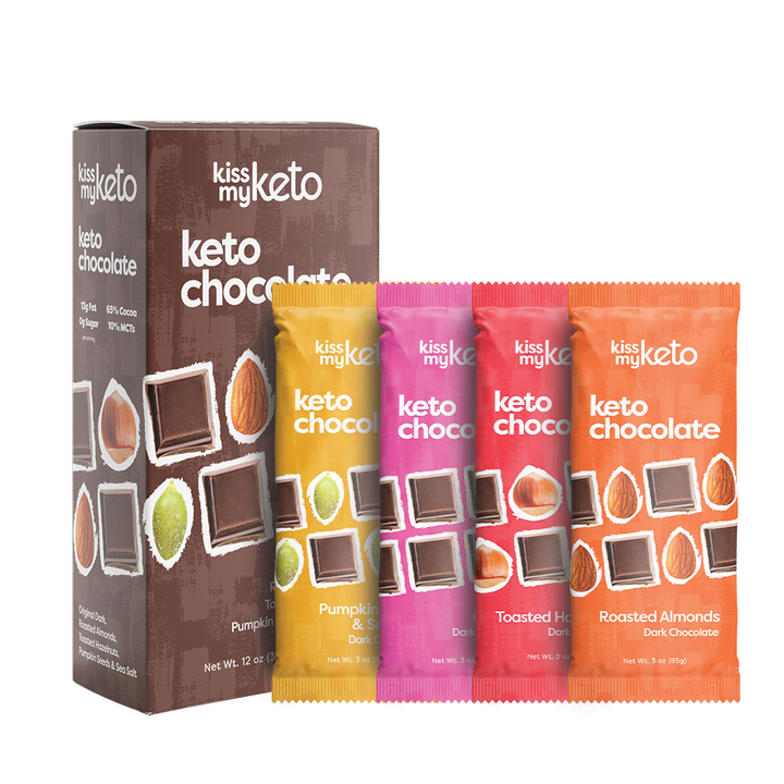 Chocolat sans sucre mix 4 tablettes - Kiss My Keto