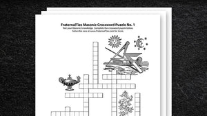 Masonic Crossword Puzzle No. 1