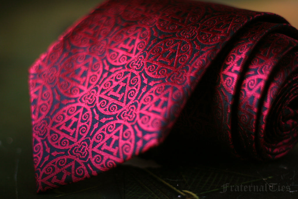 FraternalTies Royal Arch Freemasons Triple Tau Necktie