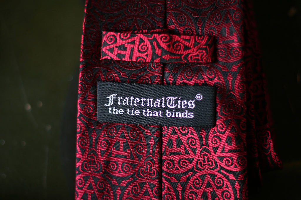 FraternalTies Royal Arch Masonry Triple Tau Masonic Necktie Red Label Designed by Freemason for Freemasons