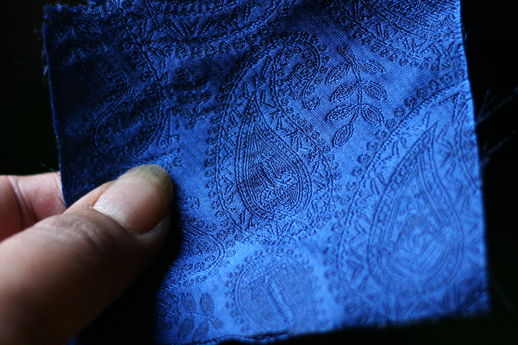 FraternalTies Freemasons paisley necktie fabric swatch