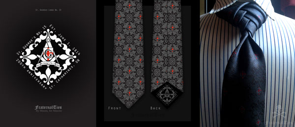 St George's Masonic Lodge No. 15 Freemasons Necktie