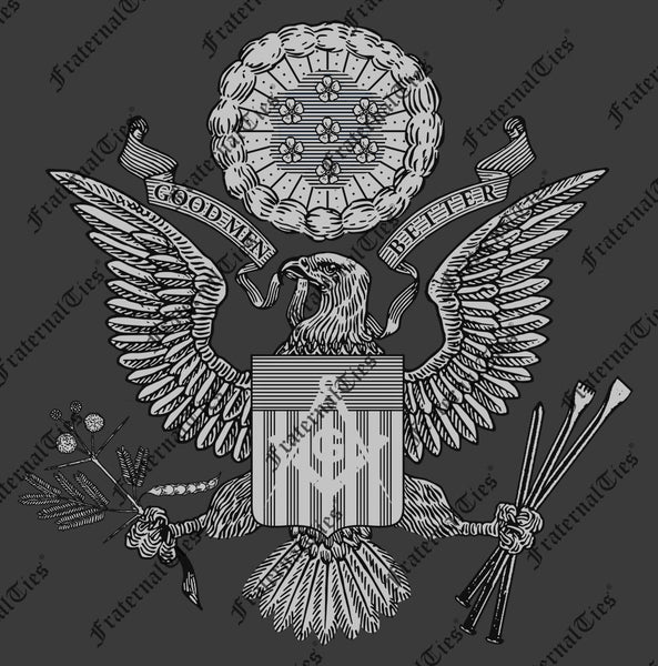 FraternalTies Freemasons Seal of the Grand Lodge of the United States (Satire) Black and White