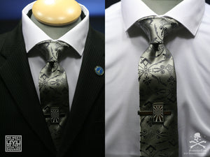 The Platinum Corinthian Necktie - FraternalTies