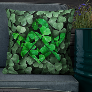 Freemason's Emblem on Shamrocks Throw Pillow