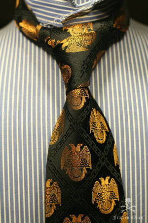 32nd Degree Scottish Rite necktie No. 1 (from personal collection) - FraternalTies