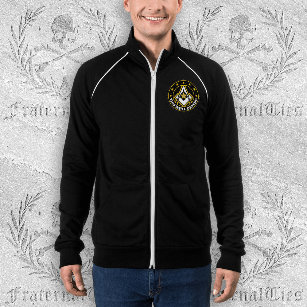 Army Freemason Piped Fleece Jacket