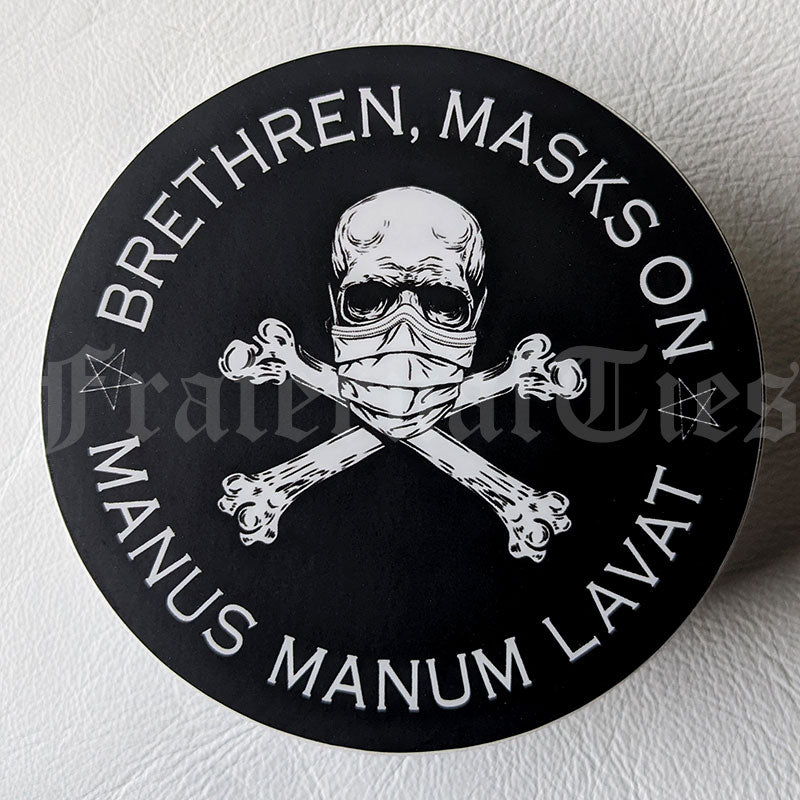Brethren, Masks On Vinyl Sticker