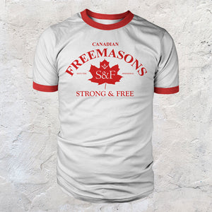 Canadian Freemason Strong & Free T-shirt