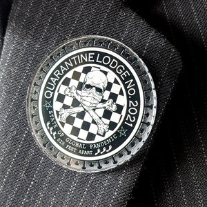 Acrylic Lapel Pin Quarantine Lodge No. 2021