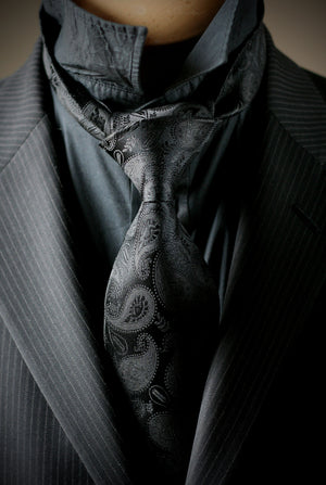 Masonic Paisley Tie - Black Edition