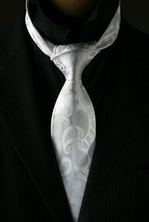 Masonic Paisley Tie - White Edition - FraternalTies