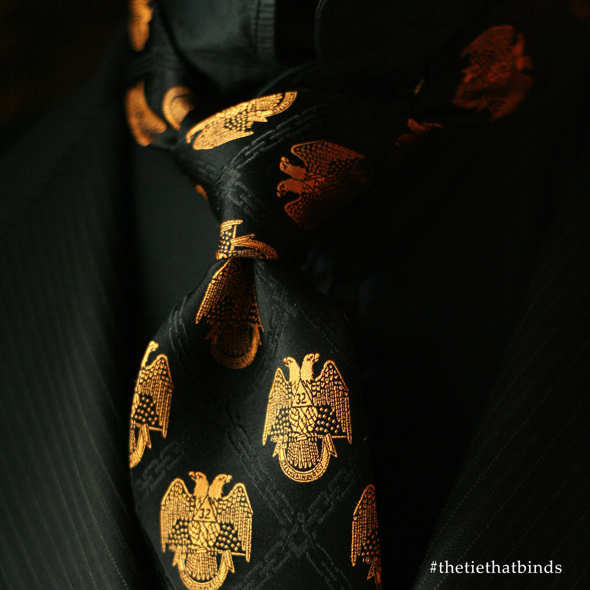 32nd Degree Scottish Rite necktie No. 1 (from personal collection)