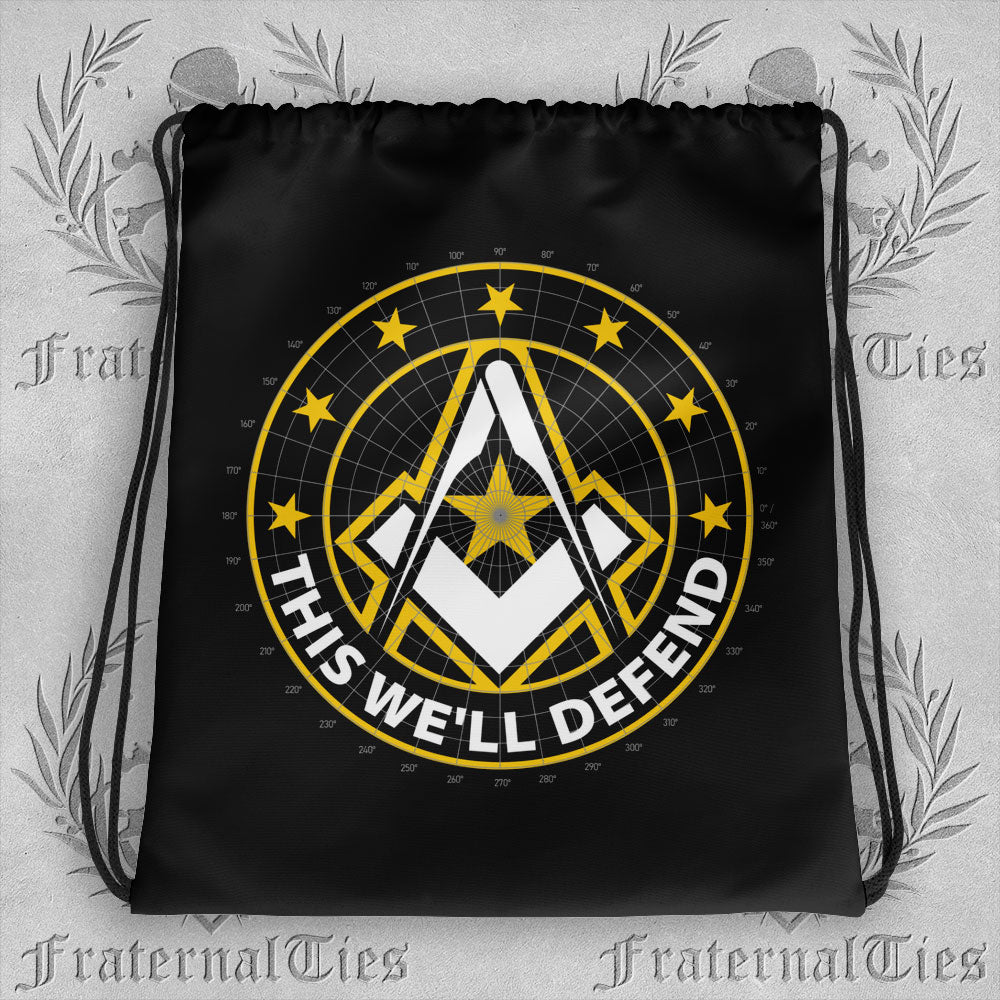 Army Freemason Drawstring bag