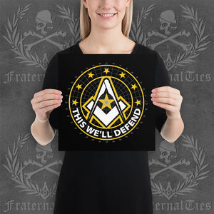 Army Freemason Paper Poster