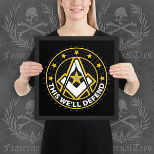 Army Freemason Framed poster