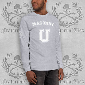 Masonry U Long Sleeve T-Shirt | Gildan 2400