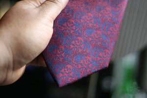 Memento Mori IIB with Pocket Square - FraternalTies