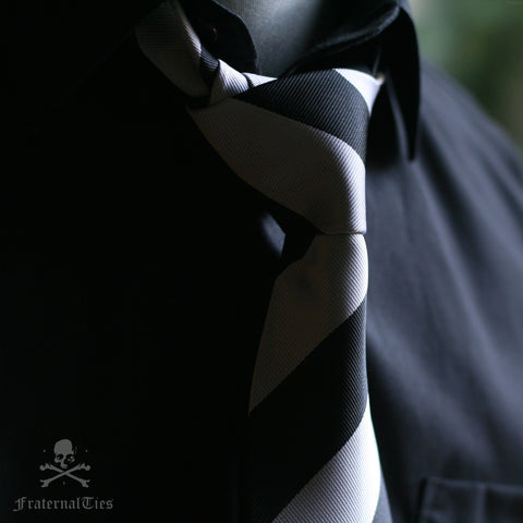 Black and White University tie