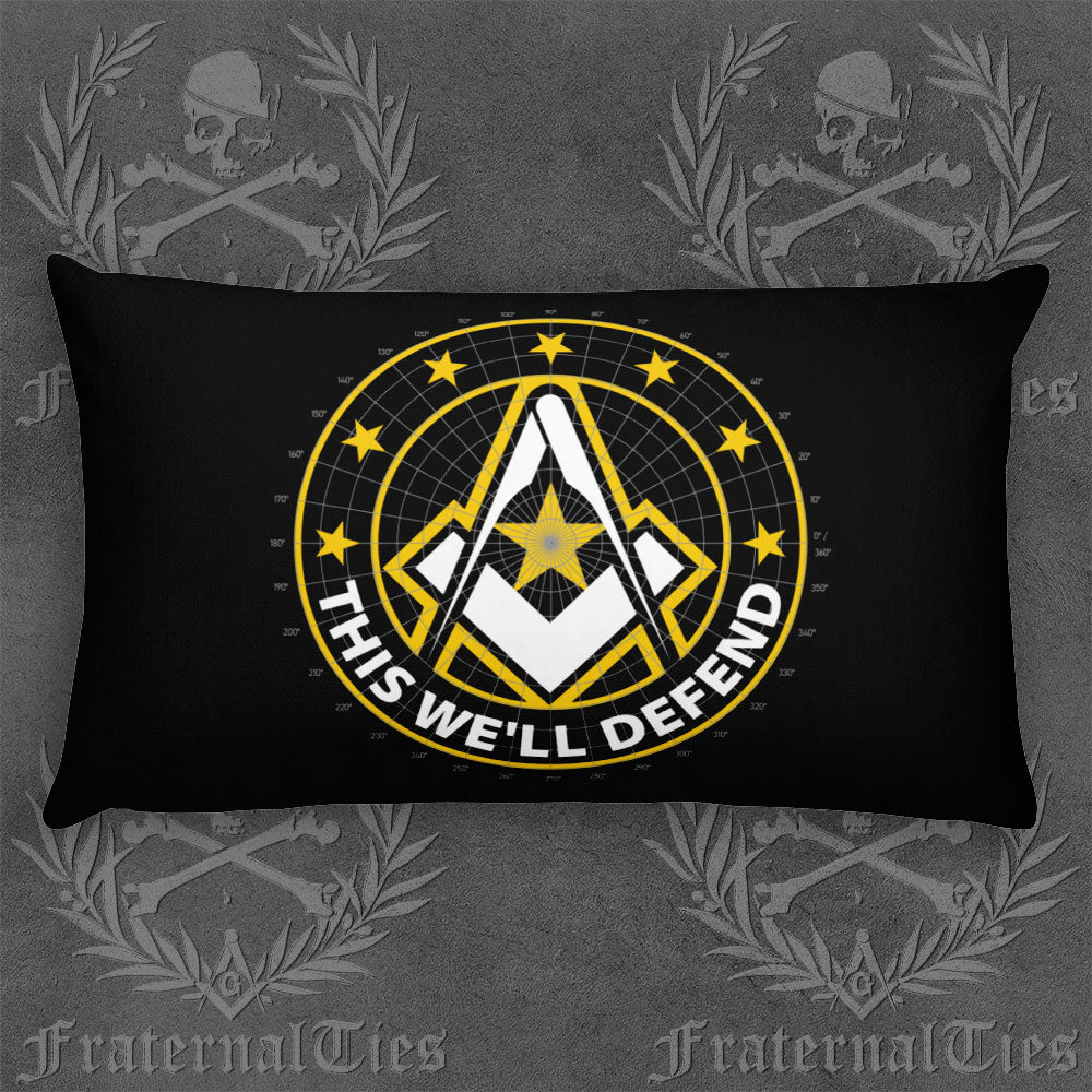 Army Freemason Basic Pillow and Throw Pillow