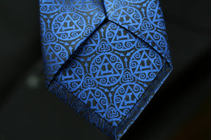 Royal Arch Triple Tau Tie | Royal Blue