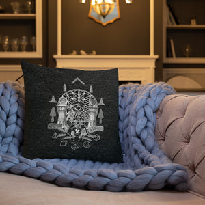 18x18 Sacred Geometry Premium Throw Pillow