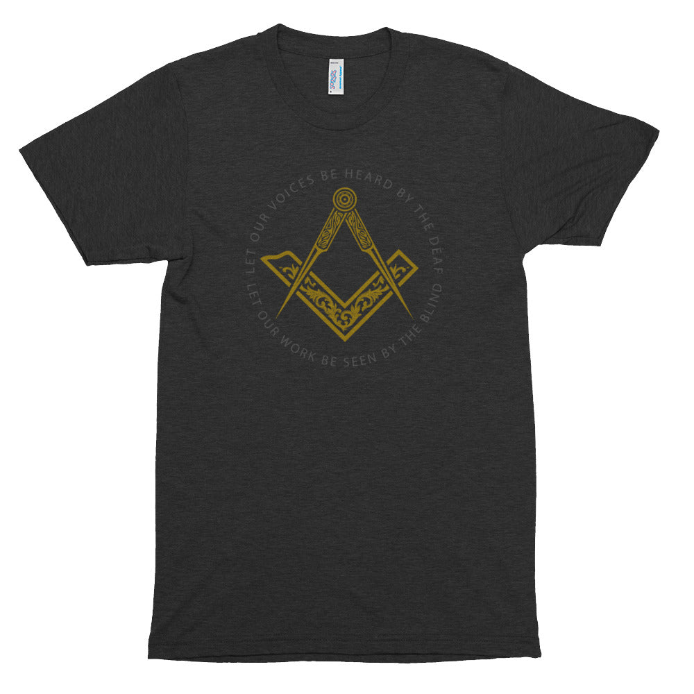 "Sacred Work Masonic T-shirt (S&C with no ""G"")"