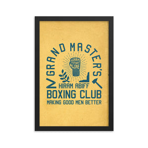 Framed poster: Grand Master's Boxing Club