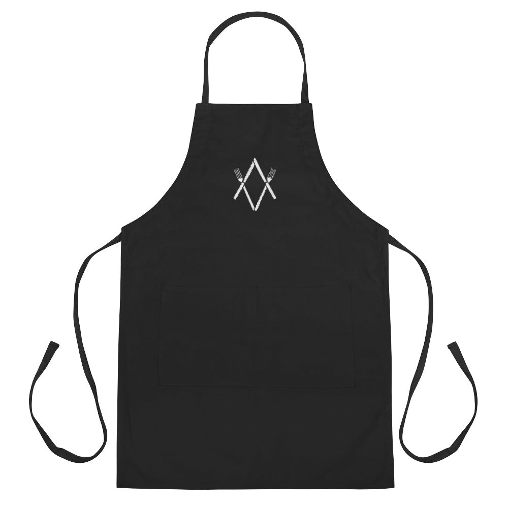 Knife and Fork Freemasons Embroidered Apron