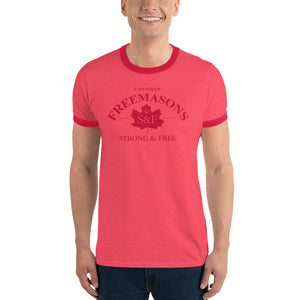 Canadian Freemasons Ringer Tee