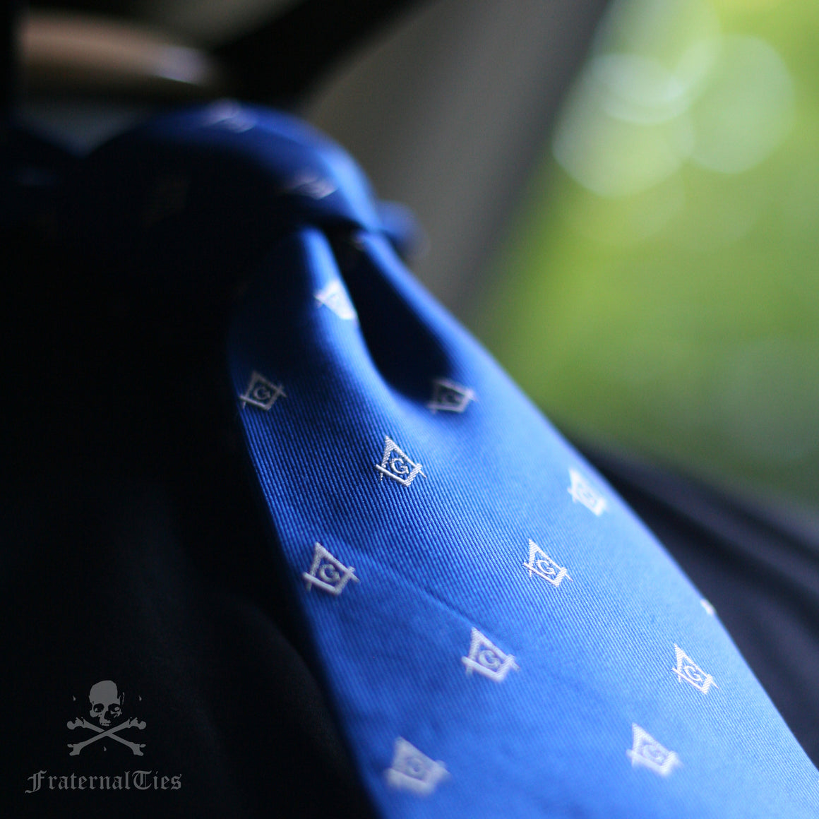 The Square & Compasses Tie - Blue Edition