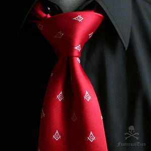 The Square and Compasses Tie - Red Edition