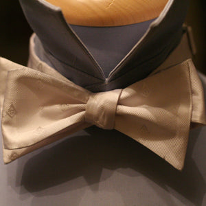 Square and Compasses Bow Tie - White Edition