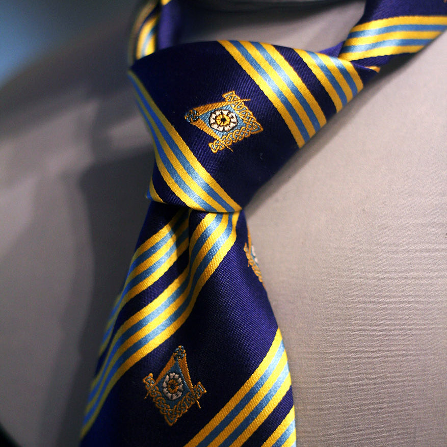York Lodge No. 156 150th Anniversary Freemasons Necktie