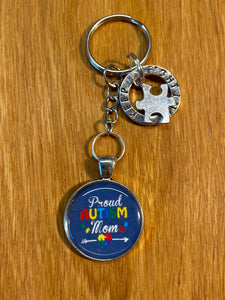 Key ring PROUD AUTISM MOM