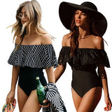 New Sexy Off The Shoulder One Piece Swimsuit