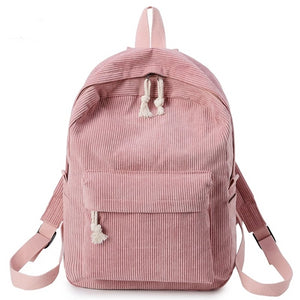 Preppy Style Soft Fabric Backpack