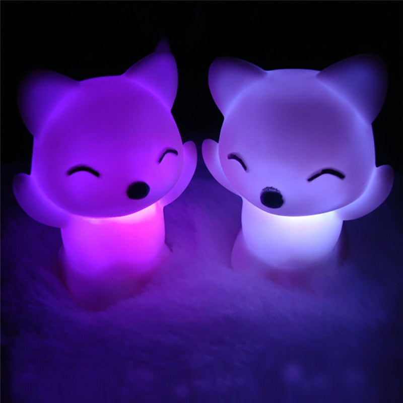 Lovely Fox Changing LED Night Light