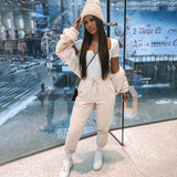 Beautiful Women Outfits 2 Piece Set Hoodie Top And Pant Tracksuit