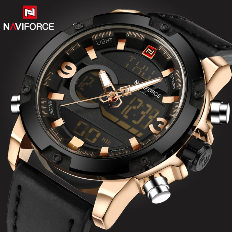 Naviforce Analog & Digital Watch for Men with Dual Time