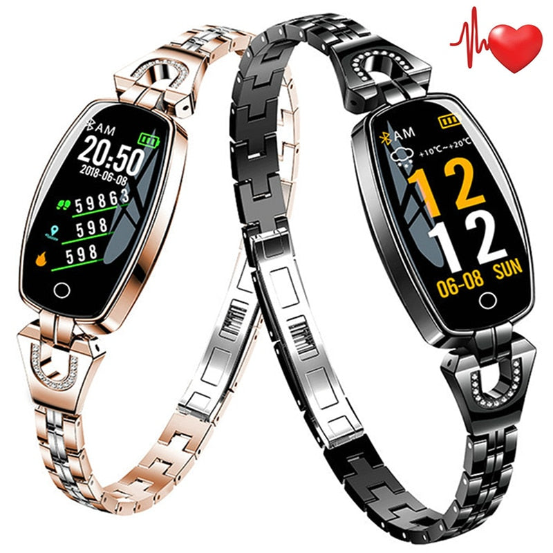 Bracelet SmartWatch with Pedometer and Heart Rate Monitor for Women.