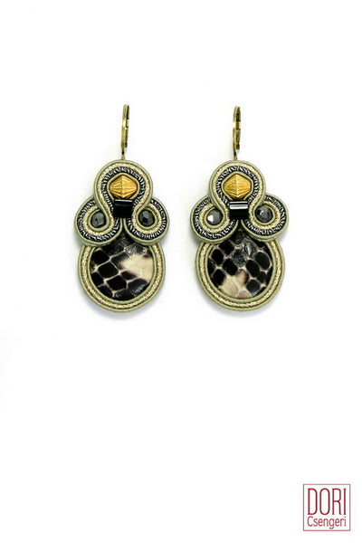 Impression Snakeskin Earrings